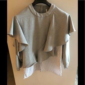 Zara Trafaluc double layer ruffle top
